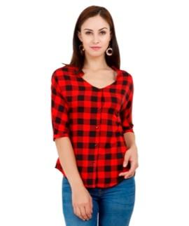 e89e6196 GLITTHREADS Women's Beautiful Red & Black Shirt – Glitthreads
