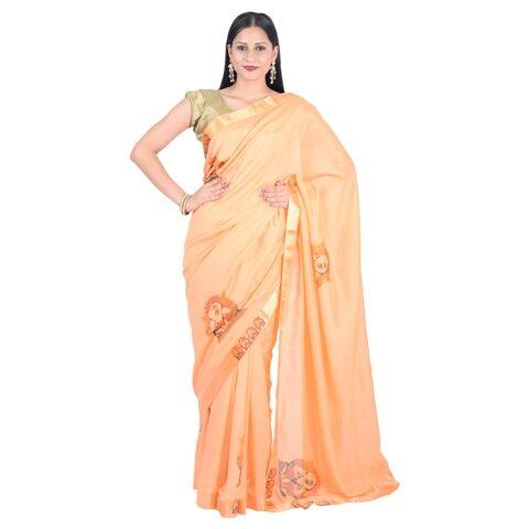 f81e8485 Designer Vichitra Silk Digital Print Saree
